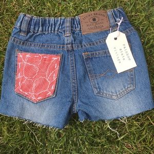 Baby distressed shorts